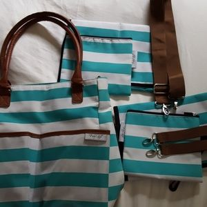 Handbags - Striped diaper bag